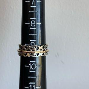 Sterling Silver Adorned Filigree Ring